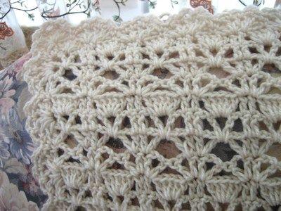 Vintage Lace Crochet Afghan | Ganchillo, Chal de ganchillo y Tejido