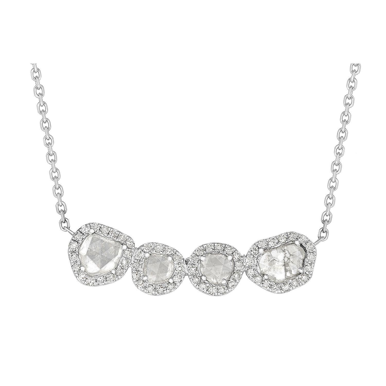 Fiona Quadruple Sliced Diamond Necklace