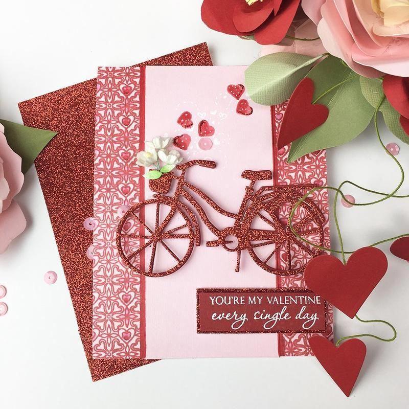 Cg759 Hearts Flowers Bold Prints Valentine Love Cards