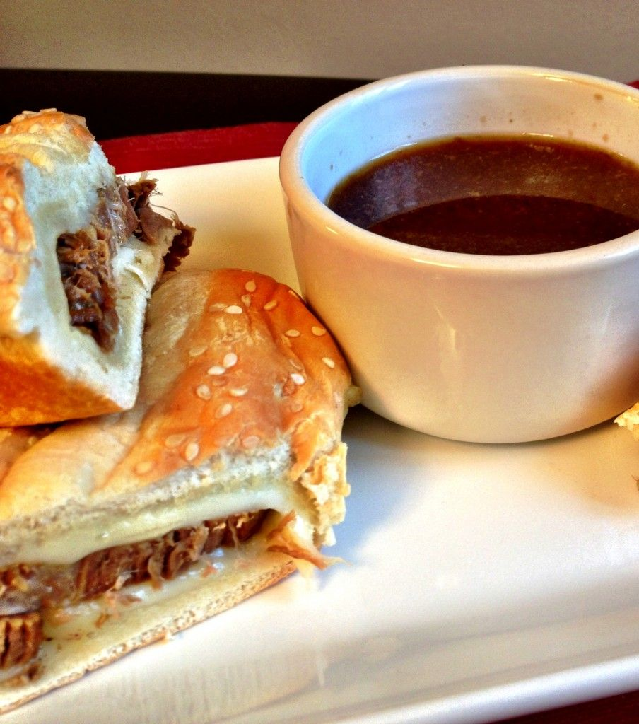 beef au jus sandwiches.  easy and delicious french dip!