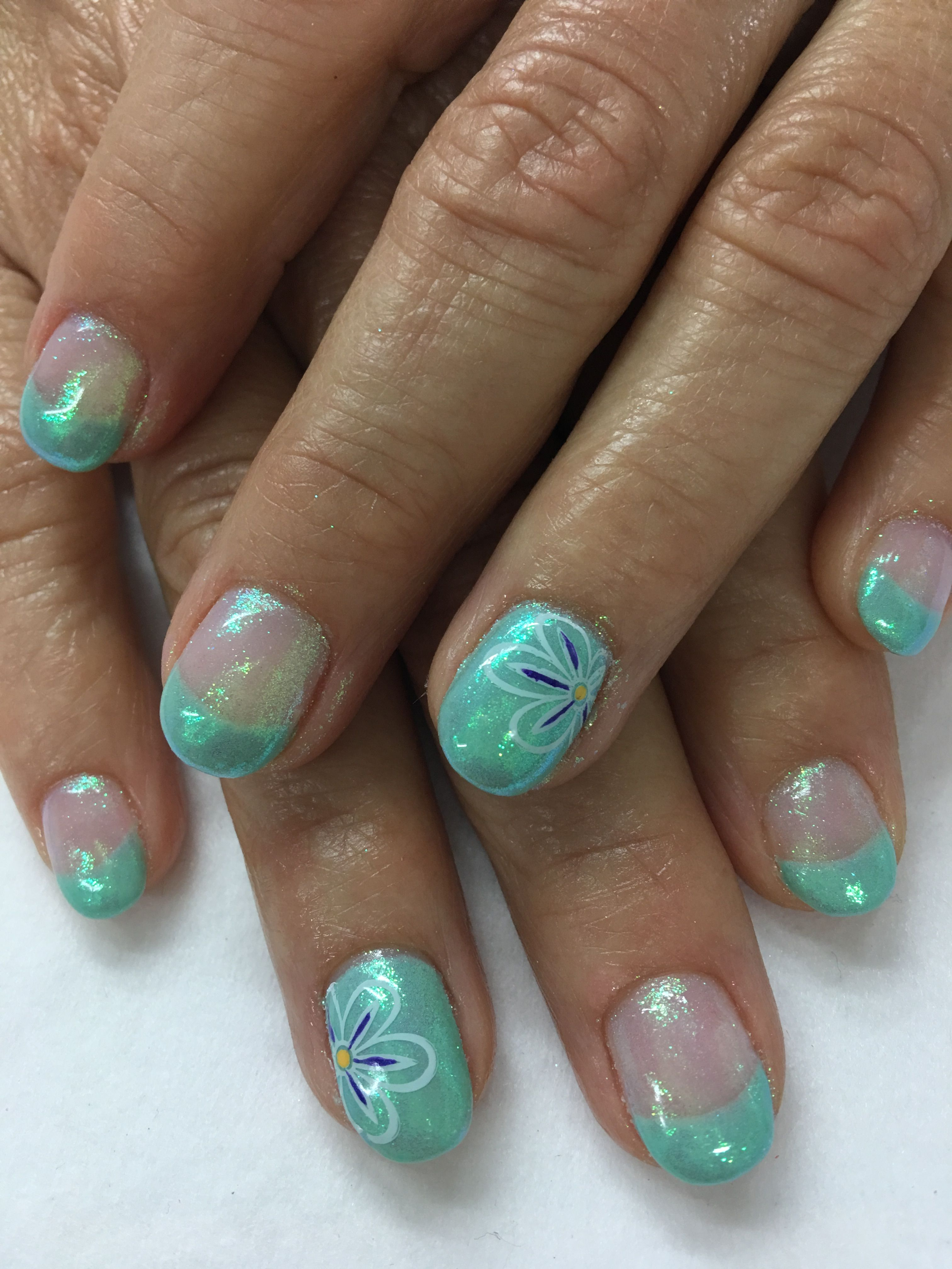 Spring Mint French Indigo Emerald Mermaid Unicorn Shimmer Effect ...