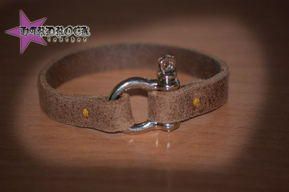 de7c1a5d088bcf Shackle Bracelet, Mens Leather Bracelet, Man Bracelet, Bow Shackle, Nautical  Bracelet, Boyfriend Gift