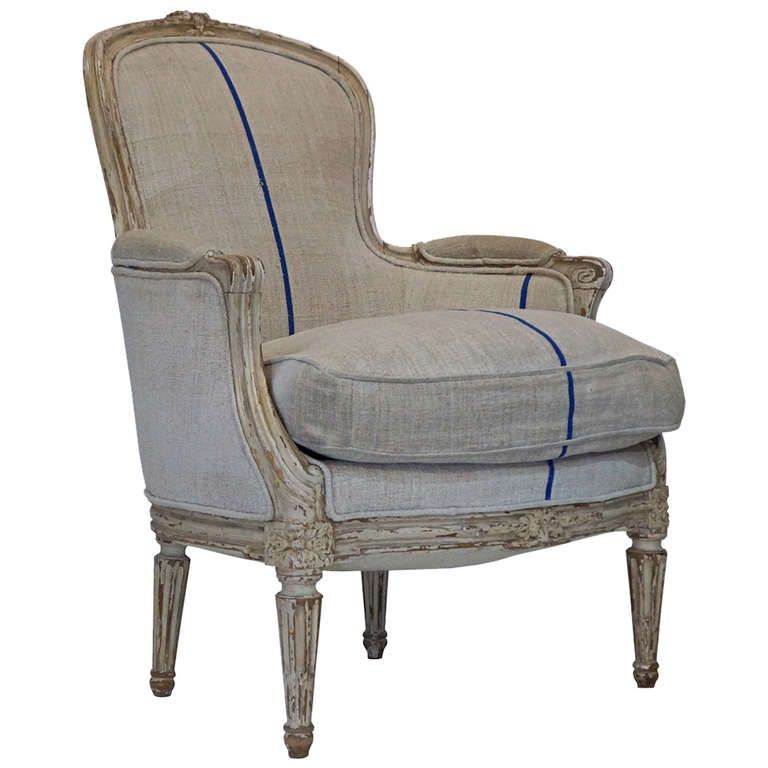 19th Century Louis XV Bergère   See more antique and modern Bergere Chairs at http://www.1stdibs.com/furniture/seating/bergere-chairs