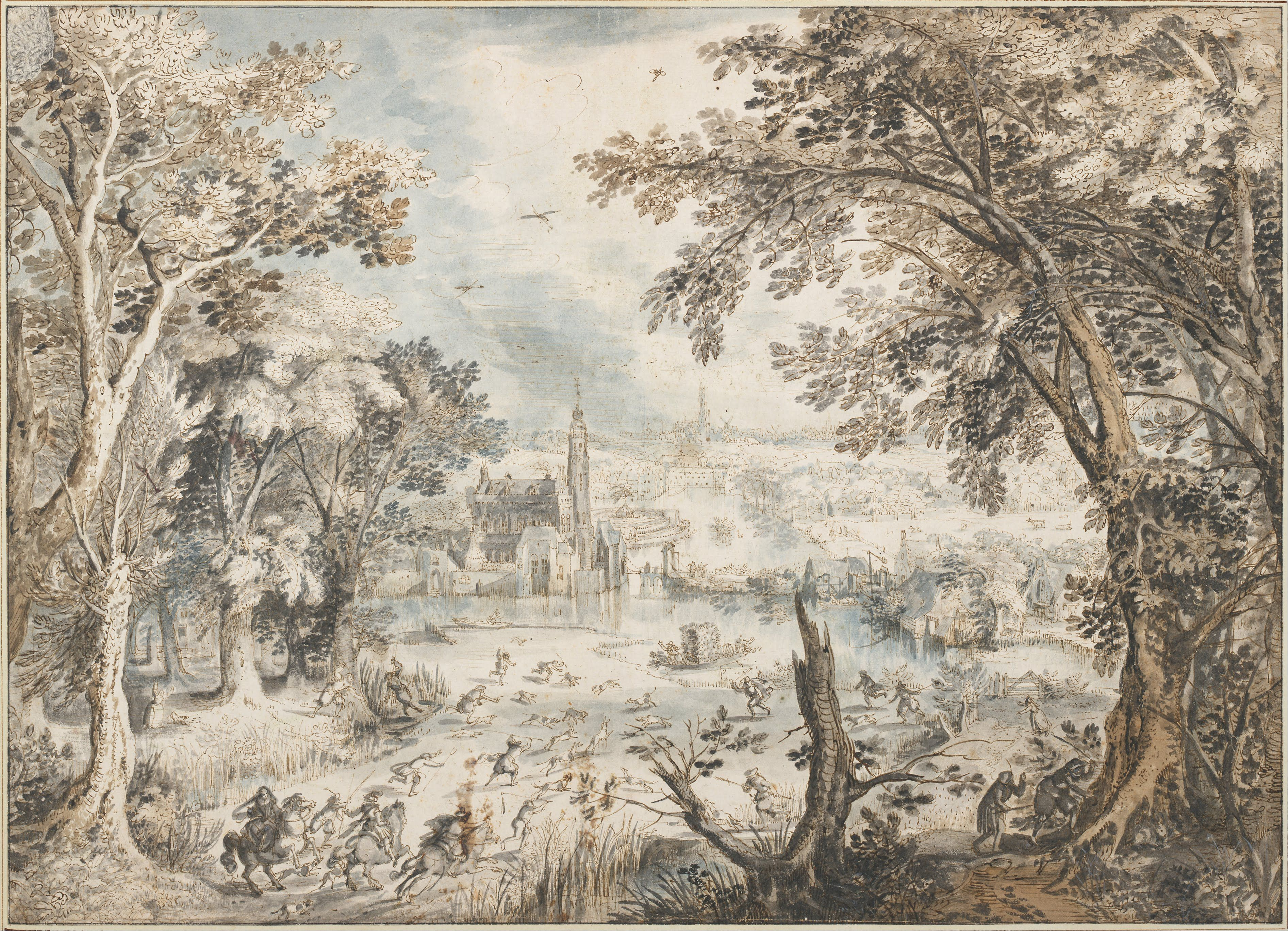 David_Vinckboons_-_Landscape_with_a_Hare_Hunt,_1601-1602_-_Google_Art_Project.jpg 3,786×2,736 pixels