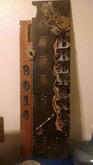 Steampunk senior locker collage