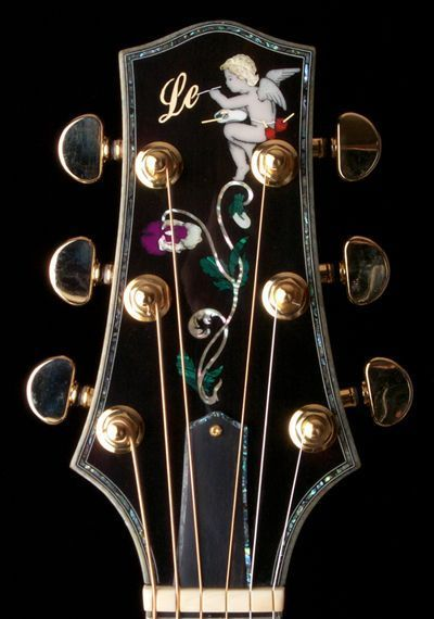 Lets See Some Pics Of Those Fancy Fretboard And Headstock Inlays The Acoustic Guitar Forum Acousticguitarforum C Guitar Inlay Luthier Guitar Acoustic Guitar