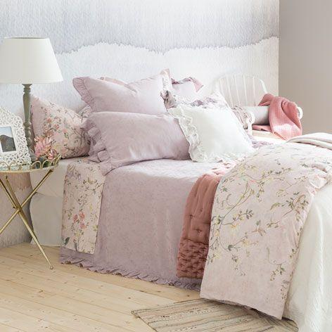 BETTWÄSCHE AUS JACQUARD MIT VOLANT   Bettwäsche   Schlafen | Zara Home  Deutschland