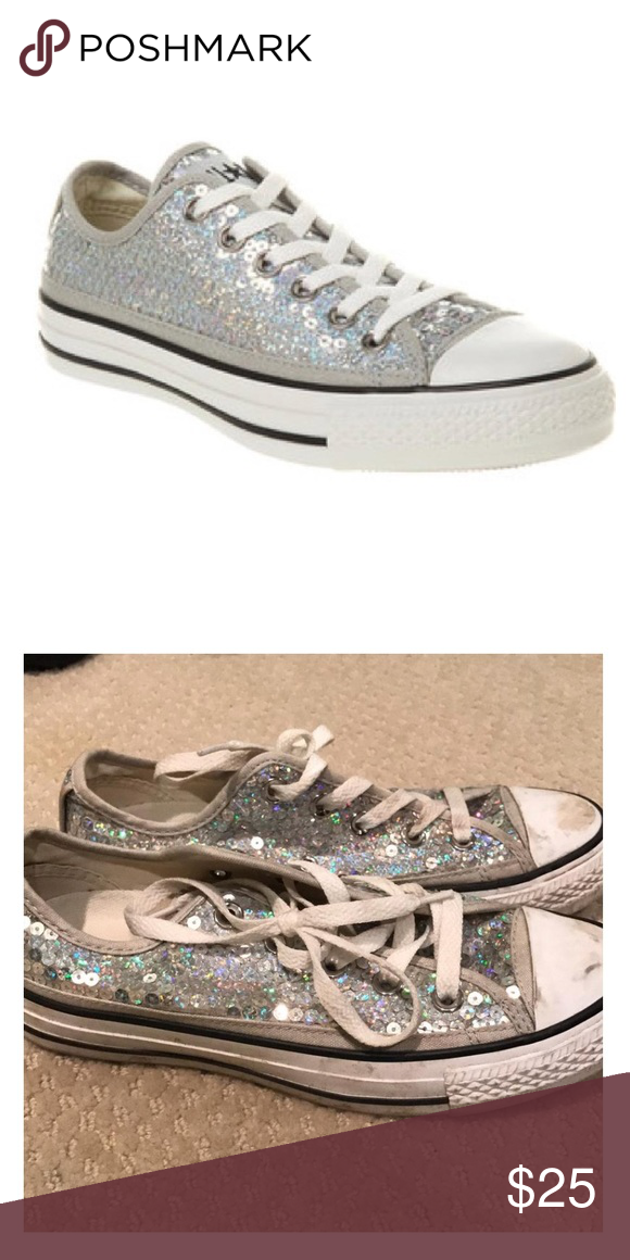 dec921904966 Converse Sequence Low tops Sequenced sparkly converse sneakers Converse  Shoes Sneakers