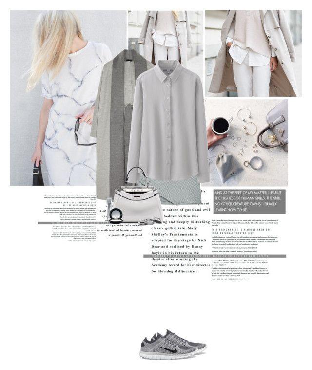 """Monday: Grey"" by sofiasolfieri ❤ liked on Polyvore"
