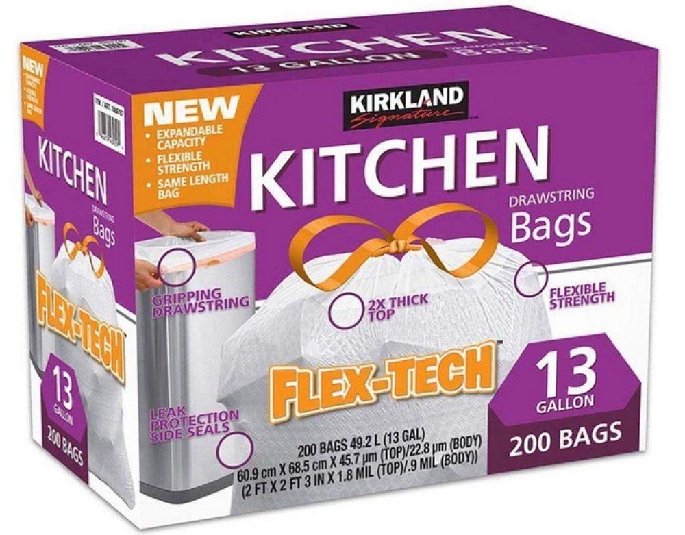 Huge Savings! Kirkland Signature Drawstring Kitchen Trash