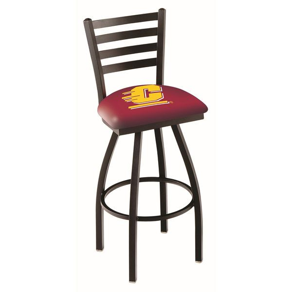 """Cent. Michigan Chippewas 25"""" Black Wrinkle Swivel Bar Stool with Ladder Style Back - $199.00"""