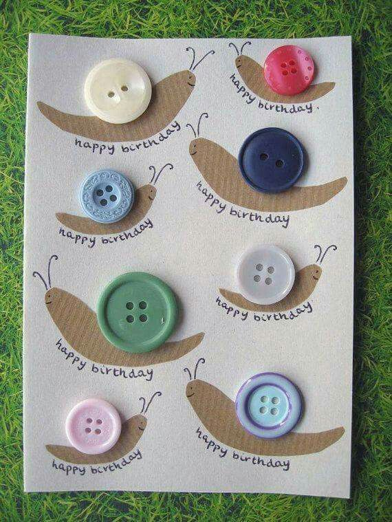 Snecci Handmade Birthday Cards Unique Birthday Cards Button Crafts