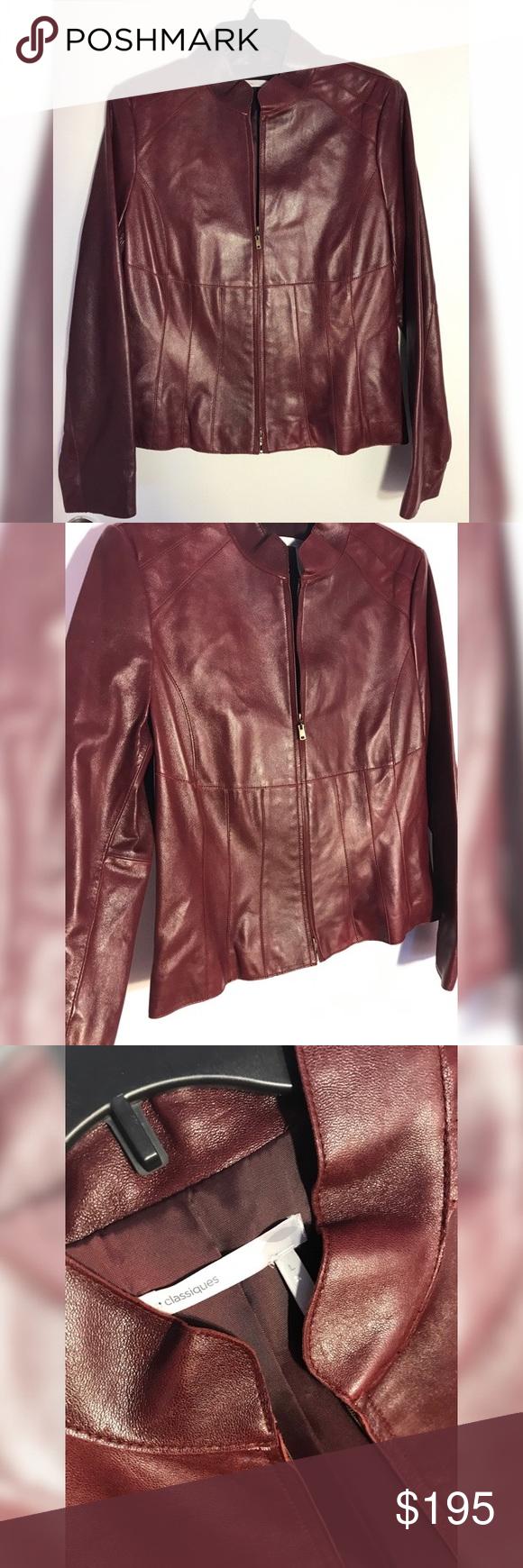 SALE🍂 Classiques Leather Jacket Beautiful CLASSIQUES ...