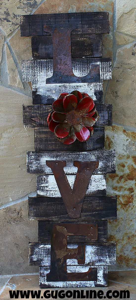 Rustic Handmade LOVE Wall Hanging This could