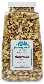Harmony House Foods, Dried Mushrooms, Shiitake, 4 Ounce Quart Size Jar, 2016 Amazon Top Rated Deli  #Grocery
