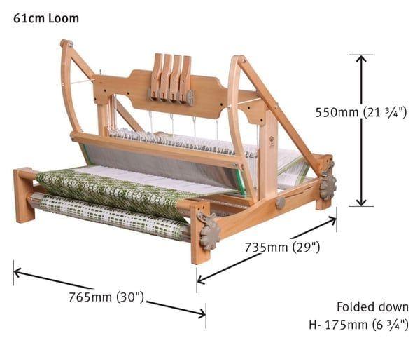 Ashford Table Loom 4 Schaft Webstuhl 60cm Webbreite