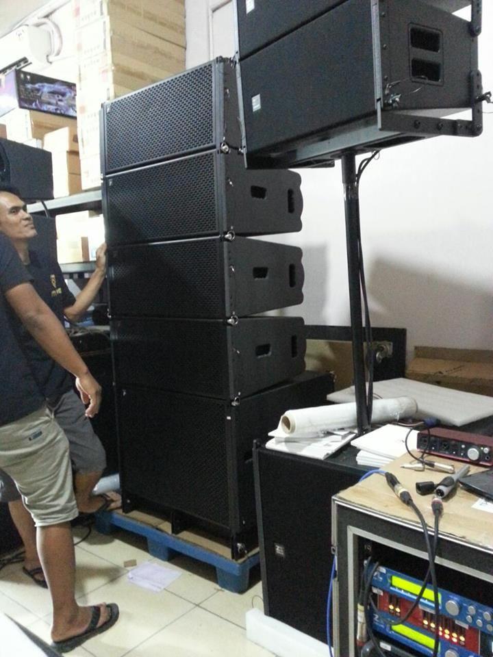Dual 10 Inch Speaker System Line Array Penyimpanan Teknologi
