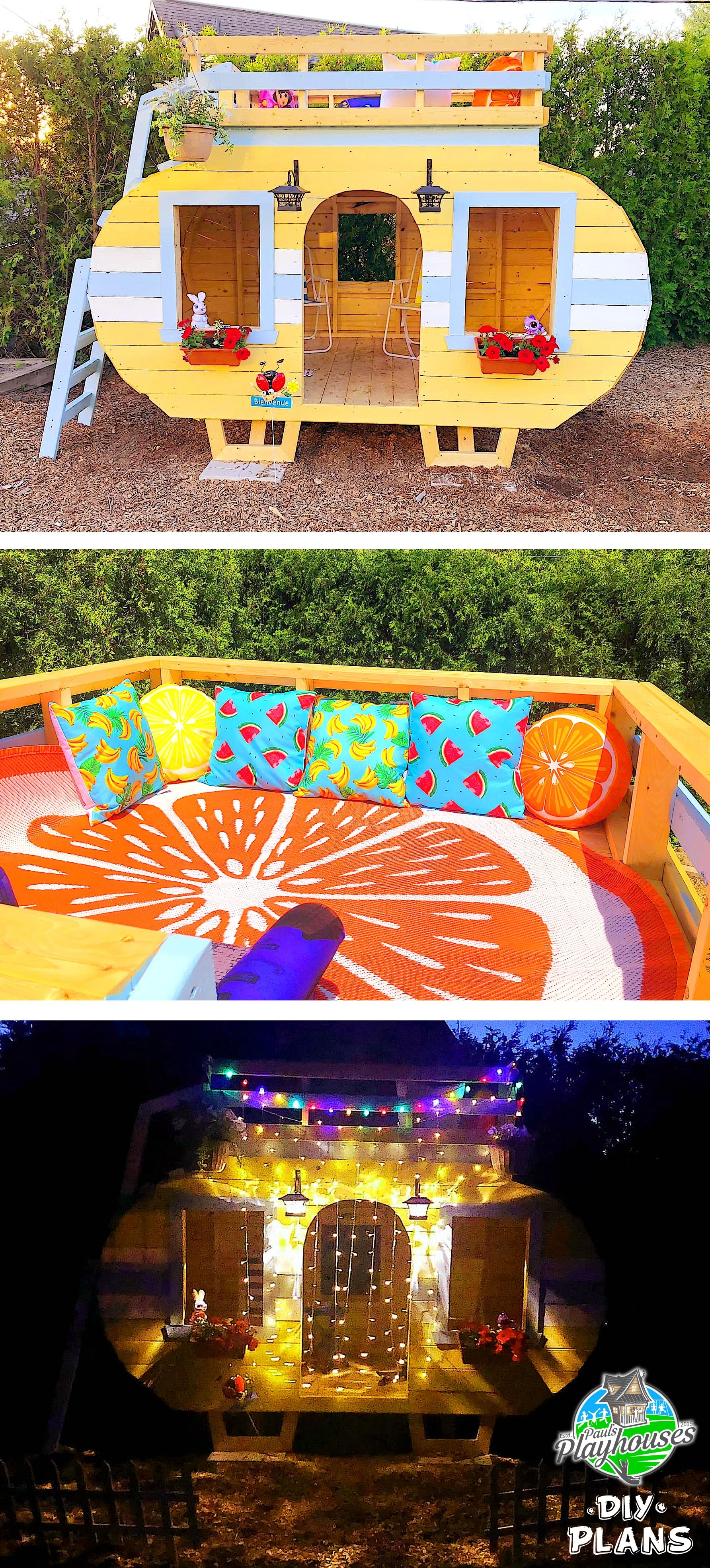 Colorful DIY Camper Plan for Kids