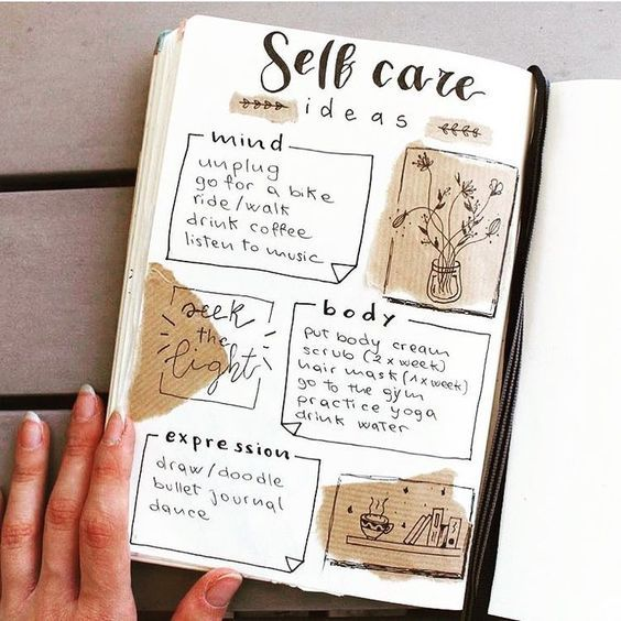 17 Stunningly Simple Self Care Bullet Journal Layouts