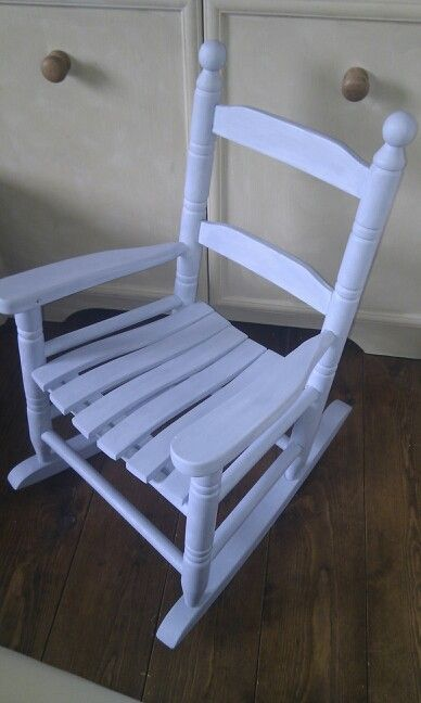 Child's rocking chair in Annie Sloan Louis Blue £19. Facebook:  the little vintage cellar.