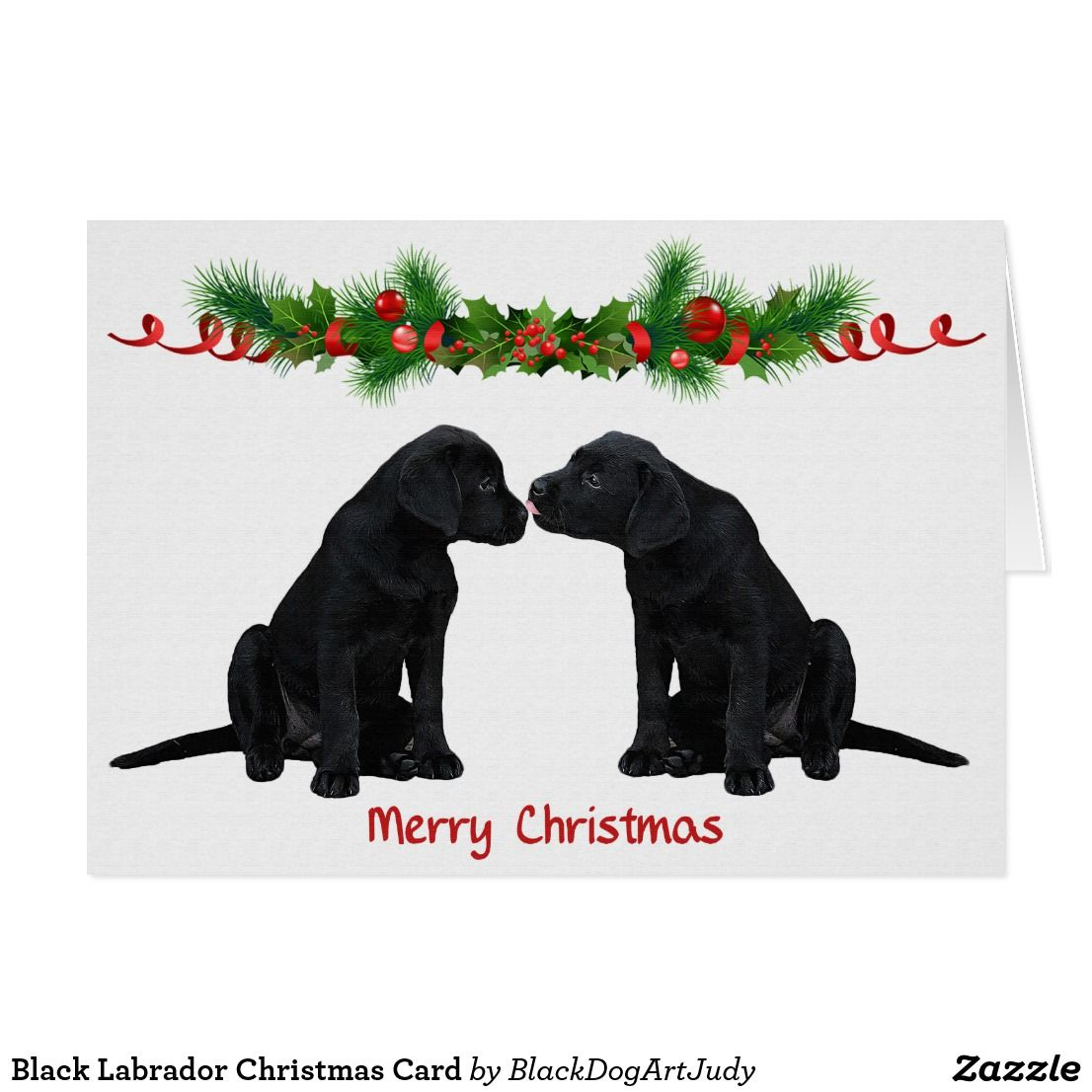 Black Labrador Christmas Card | Black labrador
