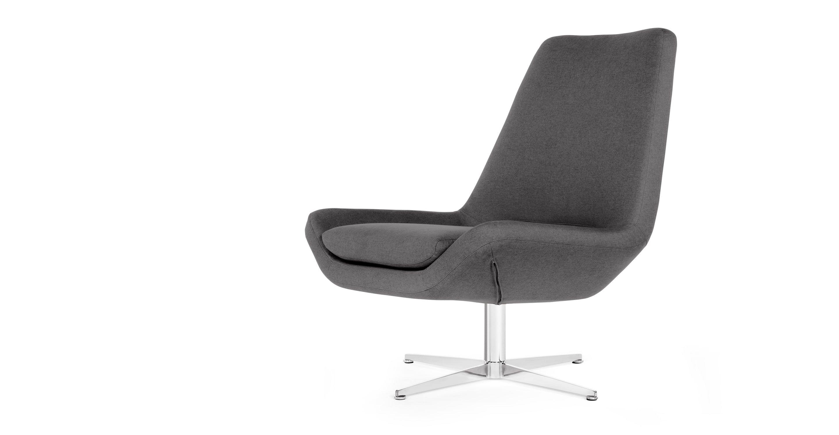 Harvey Swivel Chair, Saville Grey