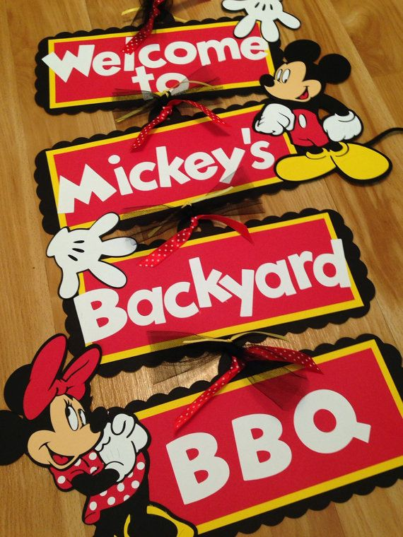 Mickey Mouse Backyard Bbq welcome to mickey's backyard bbq sign forsouthernladygifts