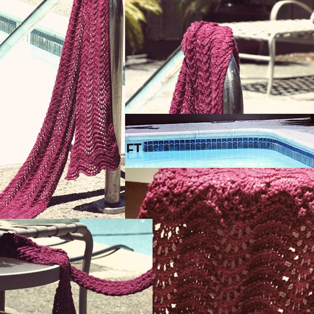 Free Pattern And Video Beginner Lace Scarf For Summer The Palm