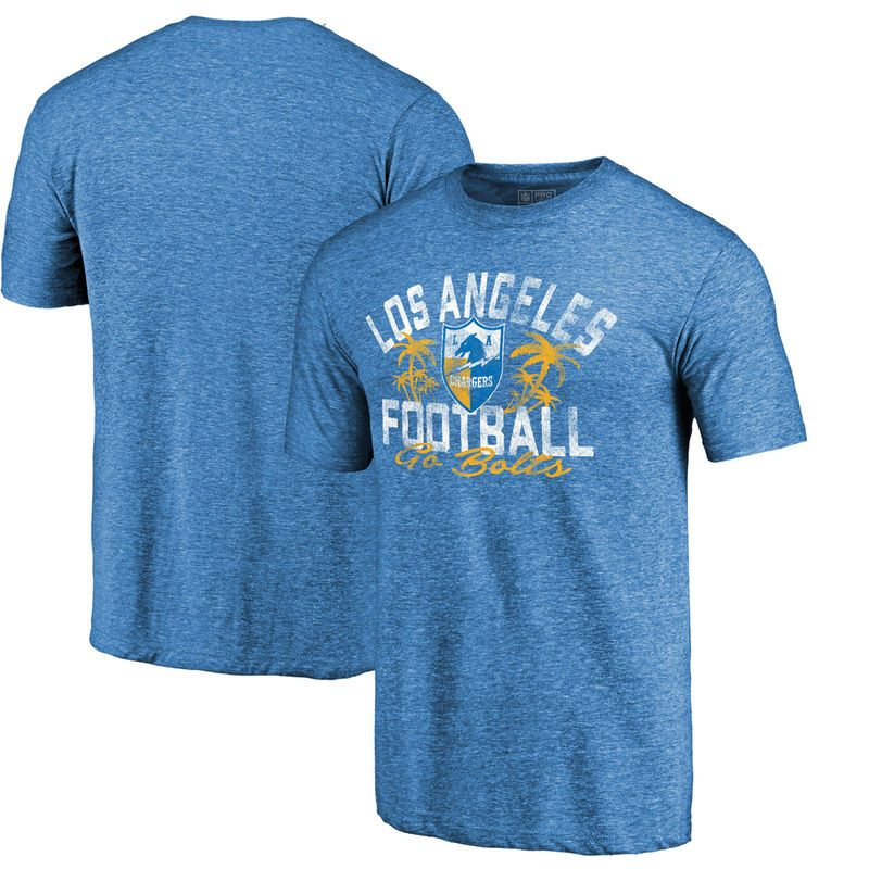94cee76ed9c Los Angeles Chargers NFL Pro Line by Fanatics Branded Hometown Collection  Tri-Blend T-Shirt - Heathered Powder Blue