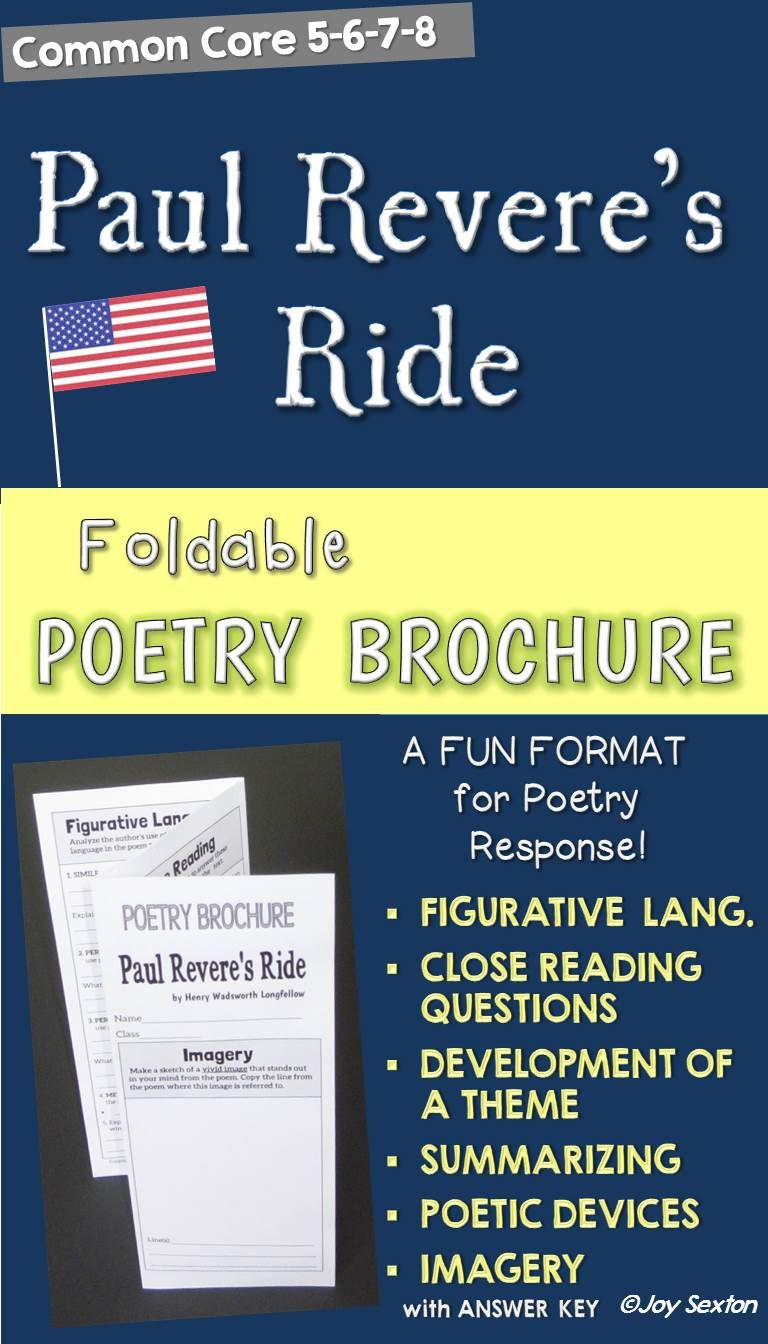 Paul Revere S Ride Poetry Brochure Motivate Your Students To Dig Deeper Into Poetry While Engaging Third Grade Social Studies Teaching Middle School Teaching