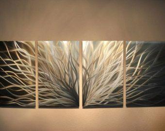 Metal Wall Art Decor Aluminum Abstract Contemporary Modern