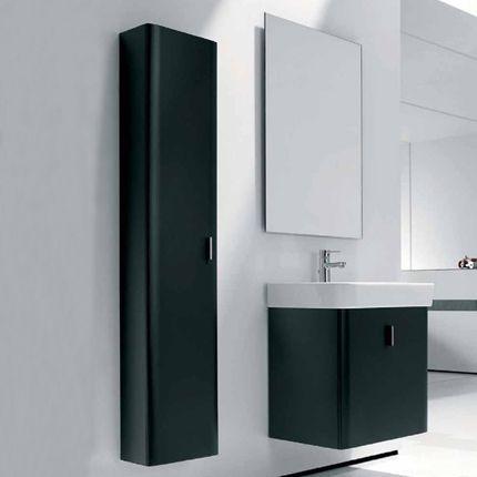 Ensemble de meubles Roca en finition noir laqué mat Escalier - salle de bain meuble noir