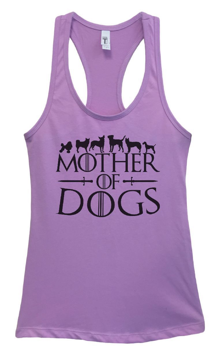 Womens Mother Of Dogs Grapahic Design Fitted Tank Top