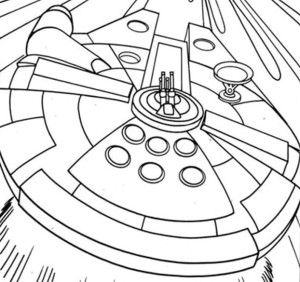 Star Wars Millennium Falcon Coloring Pages Star Wars Colors
