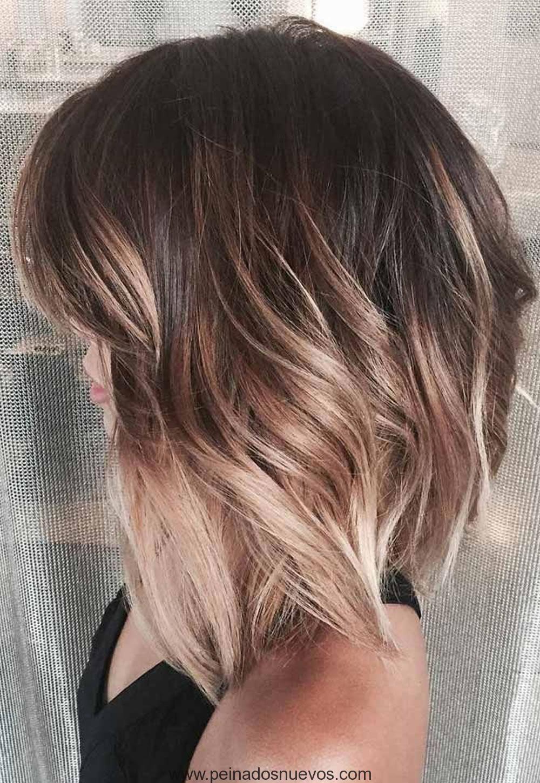 Asim trica cortes de pelo corto con balayage destaca 2018 for Color marmoleado para cabello