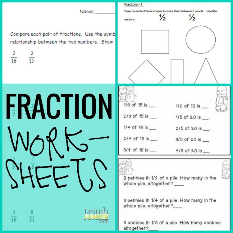 Fractions - 20 Ready to Go Resources and Activities | Worksheets ...