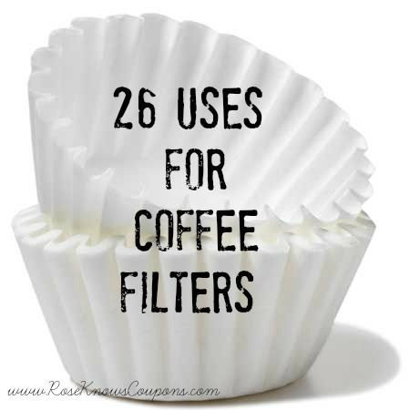 26 uses for coffee filters cheaper and less expensive than paper towel diy - Coffee Filter Uses