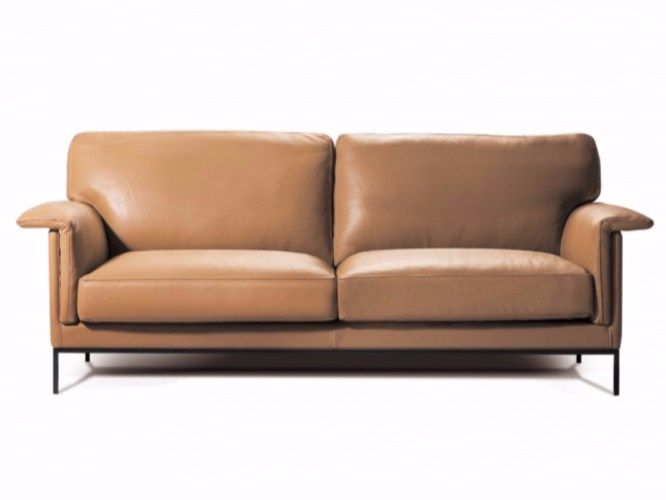 3 Seater Leather Sofa Philae By Canapés