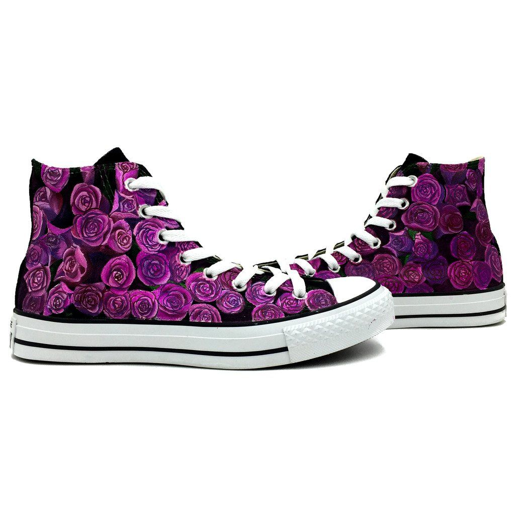 8c3d1fd7dcaad Purple Roses Women s Converse Shoes