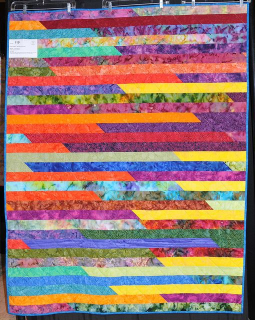 119W - JELLY ROLL 1600 QUILT by Audrey N. | Star quilts, Rainbow ... : 1600 quilts - Adamdwight.com