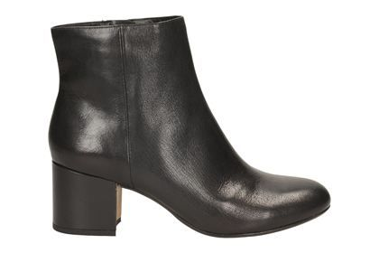 clarks womens ankle boots black leather
