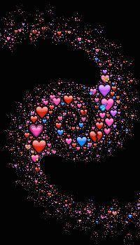 Spiral Cosmic Emoji Wallpaper   emoji wallpaper   hearts wallpaper   s