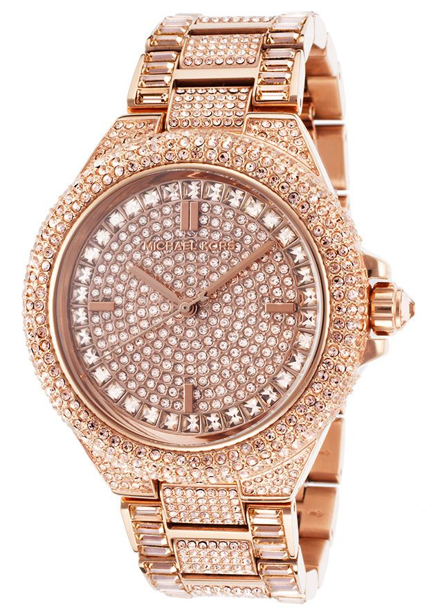 3be16d9f6b4a MICHAEL KORS SWAROVSKI CRYSTALS MK5862 CAMILLE ROSE GOLD LADIES WOMENS WATCH
