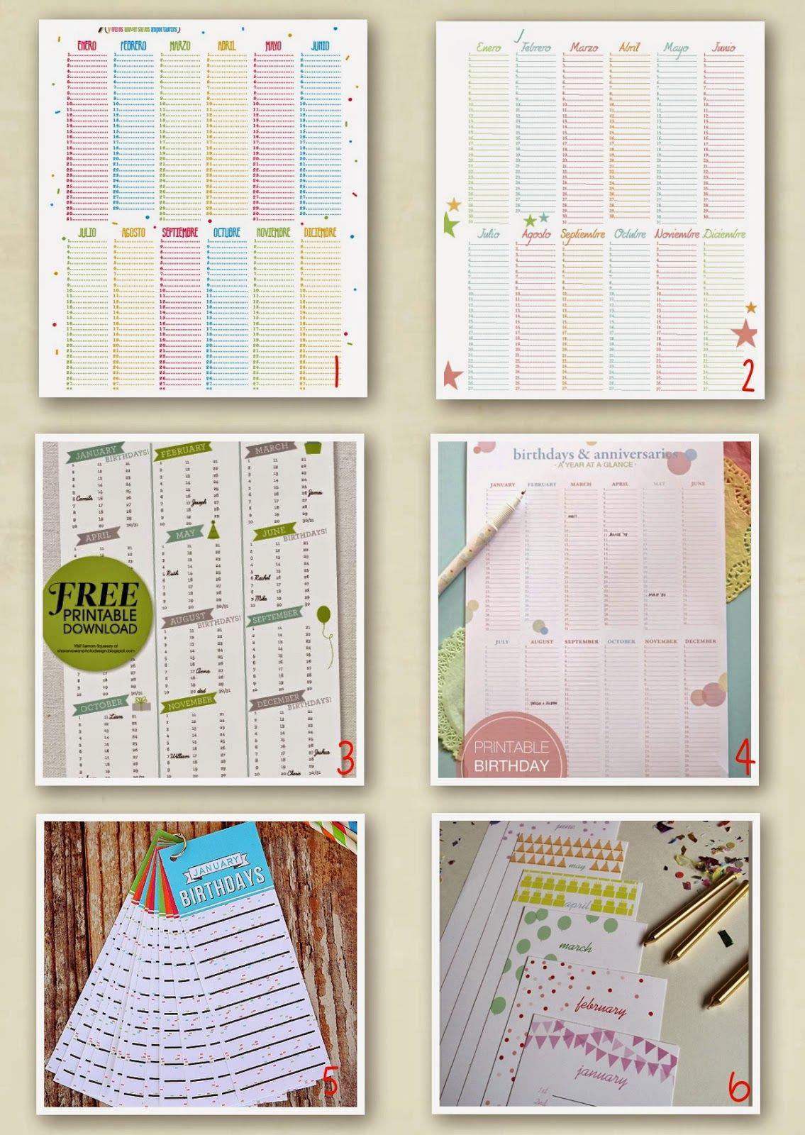 #new #nuevo #post #blog #blogger #printable #imprimible #freebies #calendar #calendario #cumpleaños #birthday