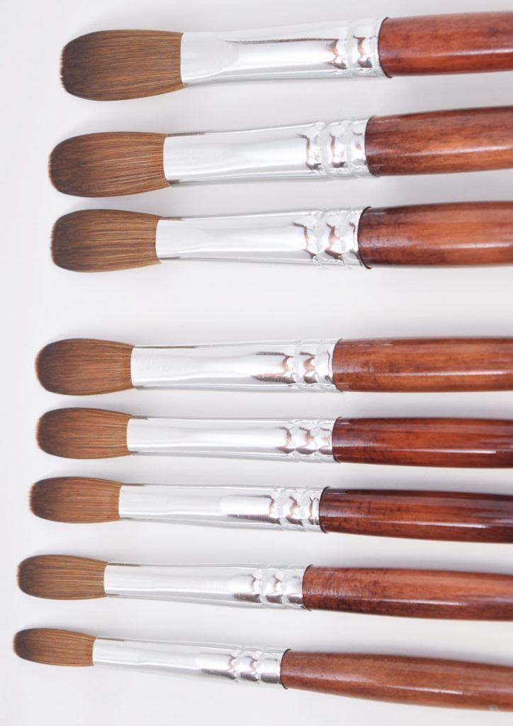Ex Kolinsky Acrylic Nail Brush For Manicure Powder Crimped