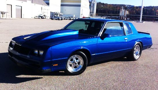 """Jeremy Reed's 1986 Chevrolet Monte Carlo SS was voted by JEGS fans in the #25 spot on the Catalog Cover Contest. """"Heavily built 400. Th350 3500 stall. 4.56 gear. Lowered on weld prostars. Black leather interior"""". Nice ride Jeremy!"""