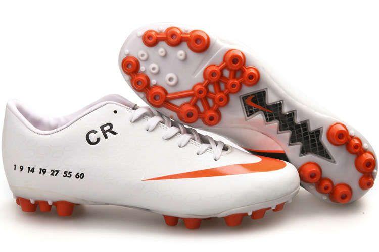 adbb30dc9 Nike Mercurial Vapor IX CR7 AG Cleats - White Orange Peel