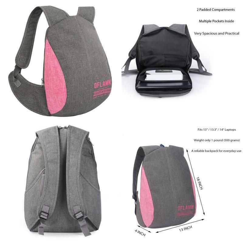 Anti-Theft College Business Laptop Backpack Travel Bag  f7a8910d006c9
