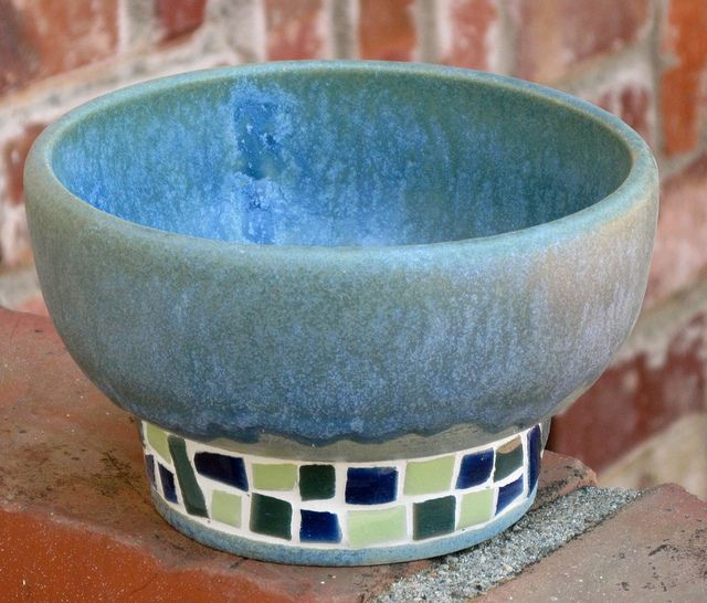 Wheel Thrown Pottery with Mosaic by melton-schreiber, via Flickr