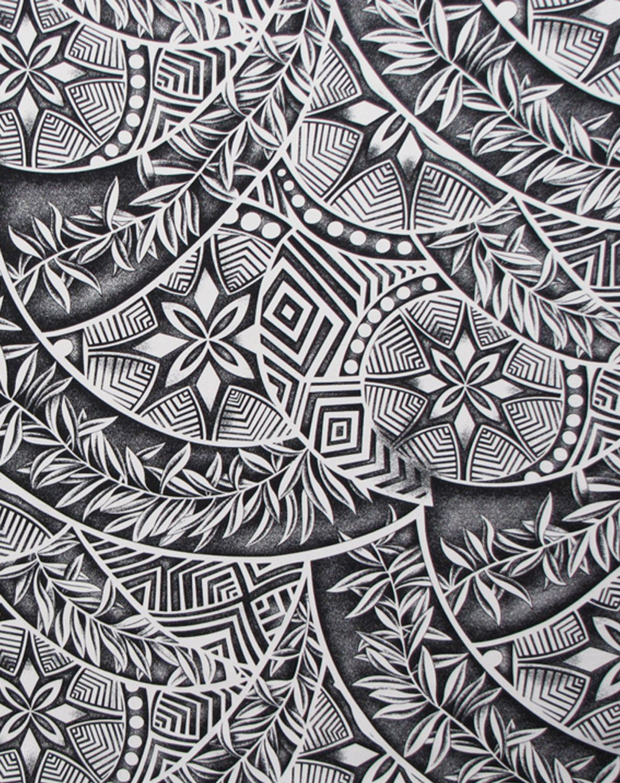 Samoan Art Designs : Tapa patterns ferns polynesian tattoo fabric check it out